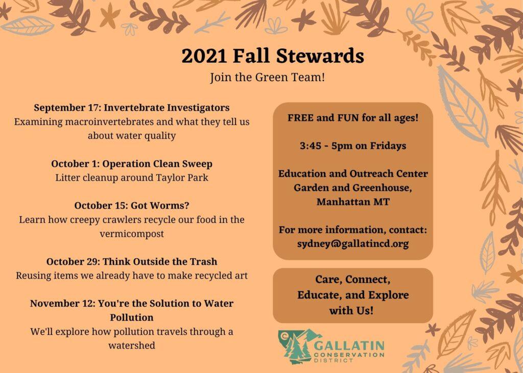 2021 Fall Stewards